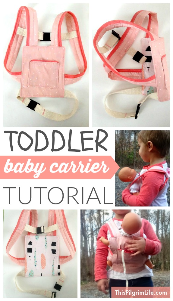 Follow these step-by-step instructions to make a baby carrier for a toddler. Just like mom's!