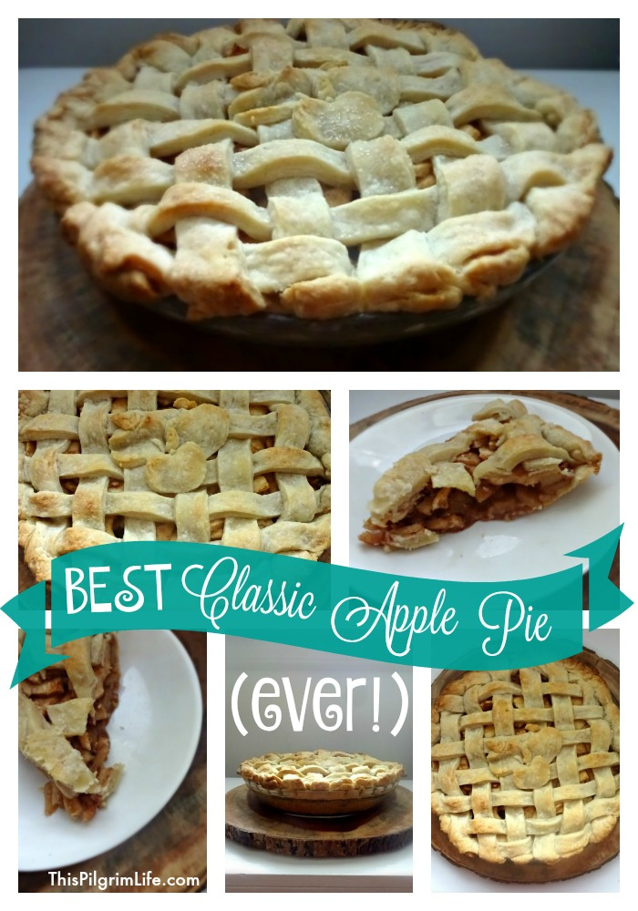 Often the best things are simple and classic. This apple pie has been perfected from much practice and is the BEST APPLE PIE EVER!