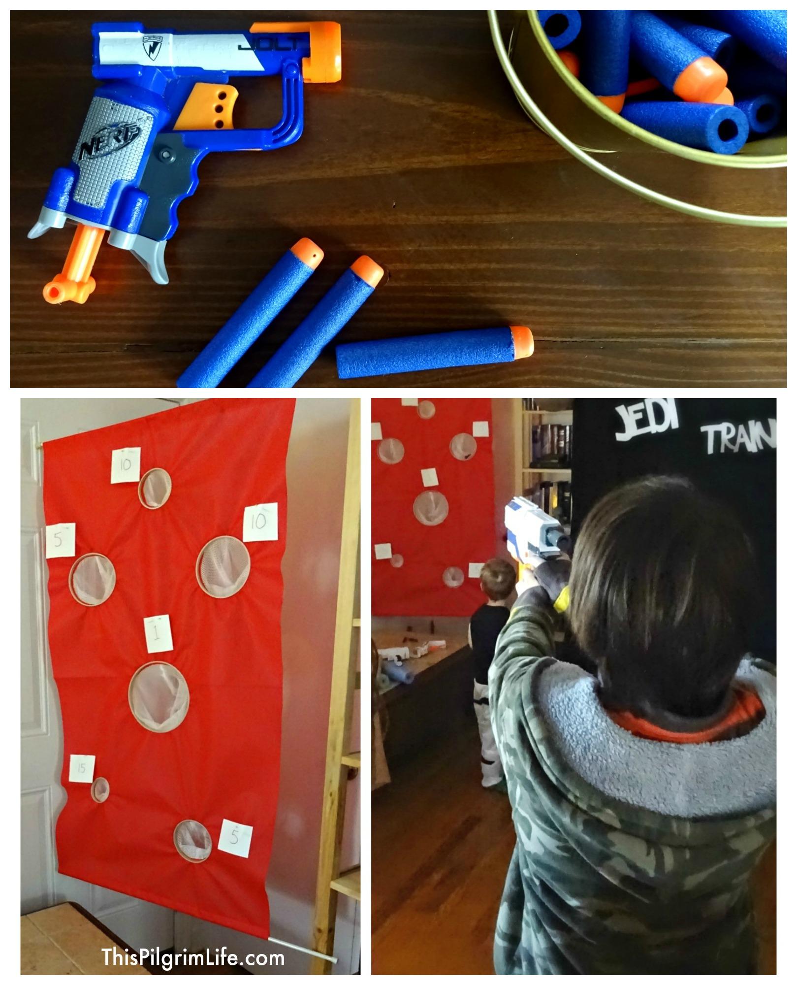 Nerf Target Toys For Boys : Diy hanging nerf target this pilgrim life
