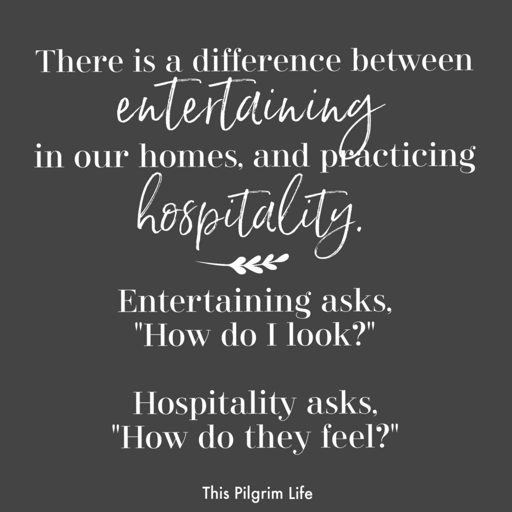 Difference between entertaining and hospitality