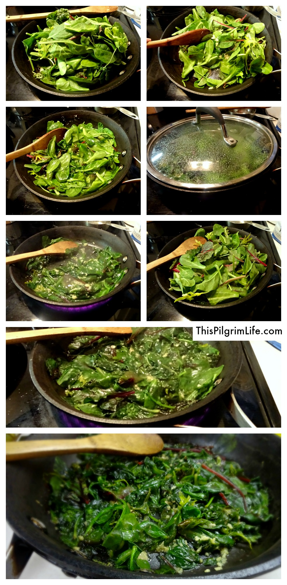 Sautéed garlicky greens are delicious, healthy, and very quick and easy to make! Our kids love them too!