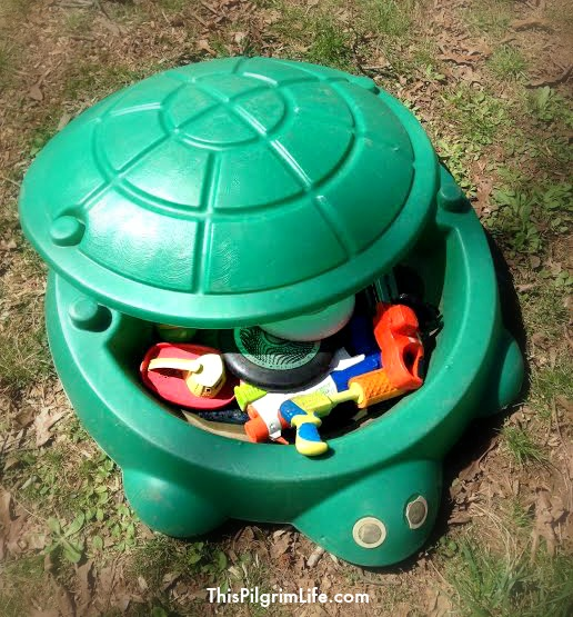 Turtle sandboxes are not only for sand! Check out these simple ways to repurpose a common toy!