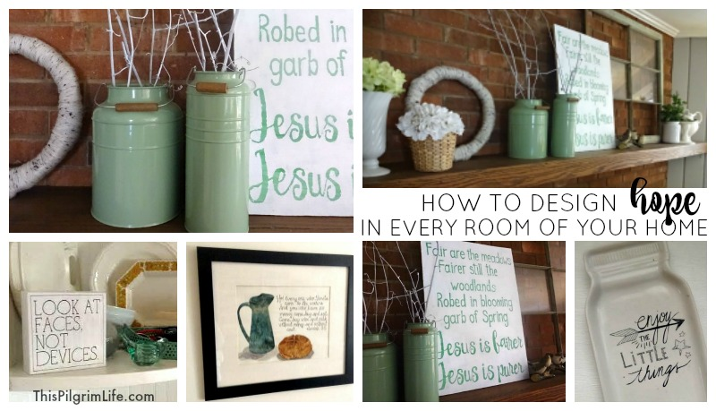 Does your home speak hope to those who enter in? There is a simple way to intentionally design hope, beauty, and truth into every room of your home!