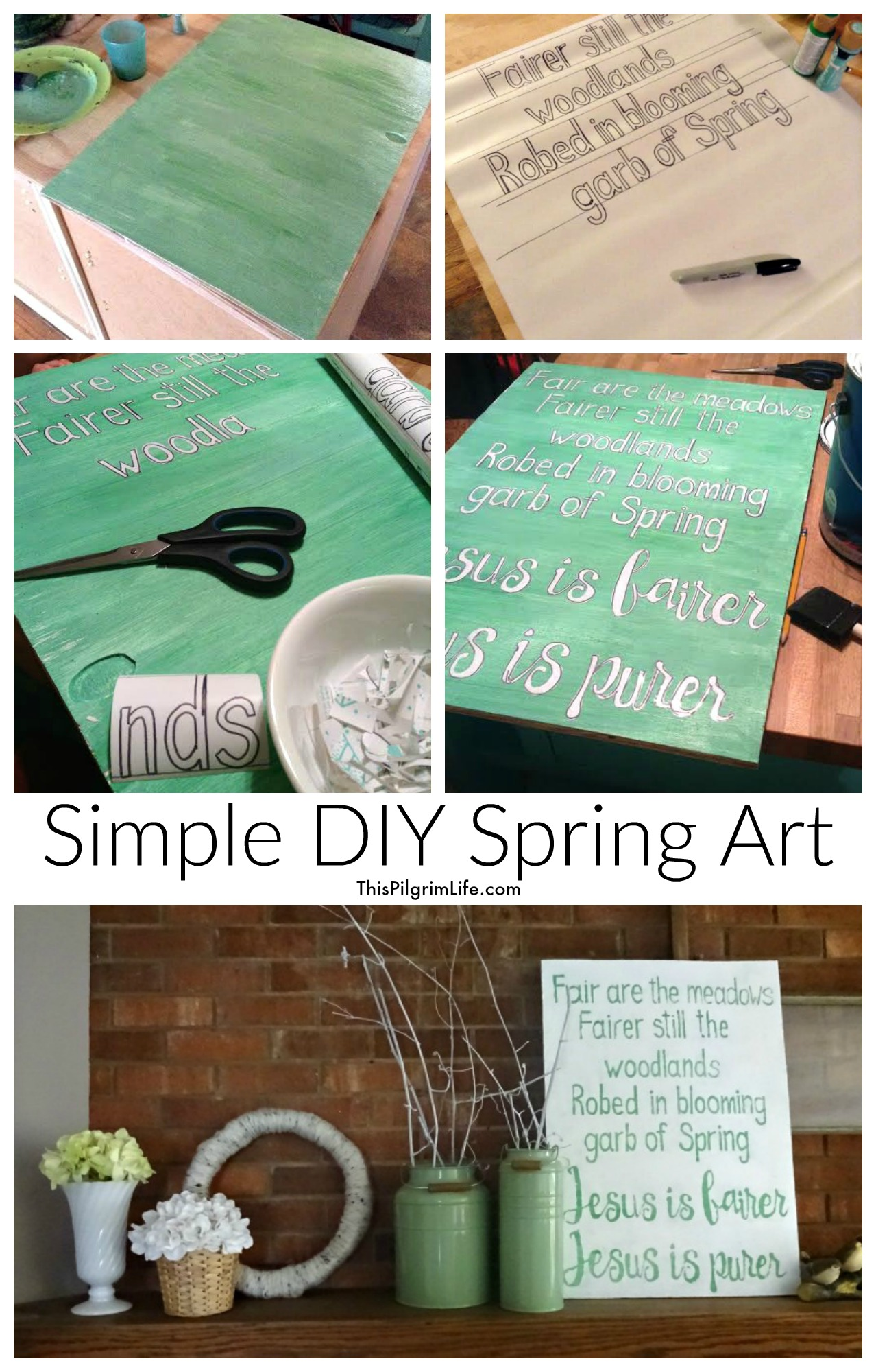Simple DIY Spring Art -- How to Design Hope in Every Room of Your Home