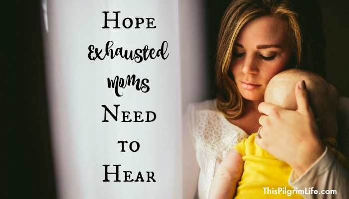 Some seasons of motherhood leave us feeling exhausted and overwhelmed. We may feel weak, but there is hope bigger than our fatigue.