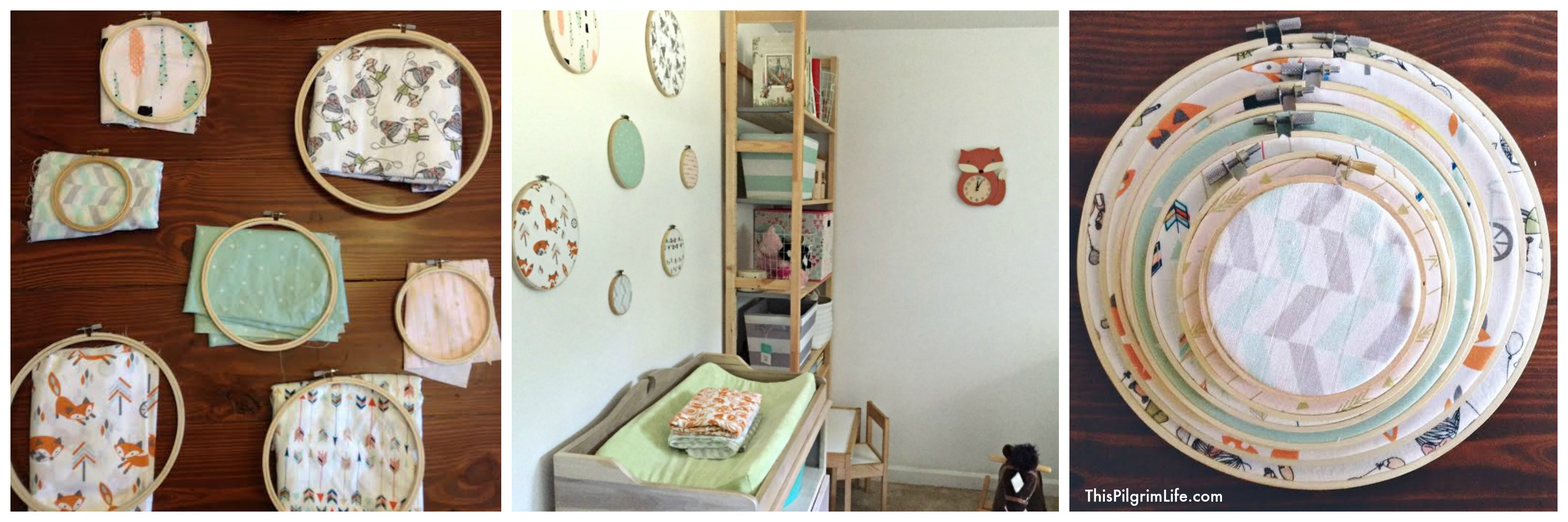 We recently made over our daughter's room to make space for her new little brother. Check out the new look, a few favorite nursery items, and three DIY projects you can make for inexpensive wall decor!