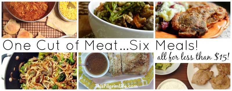 This is one of my favorite ways to stretch meat! You can get at least six meals from this one cut--all for less than $15!
