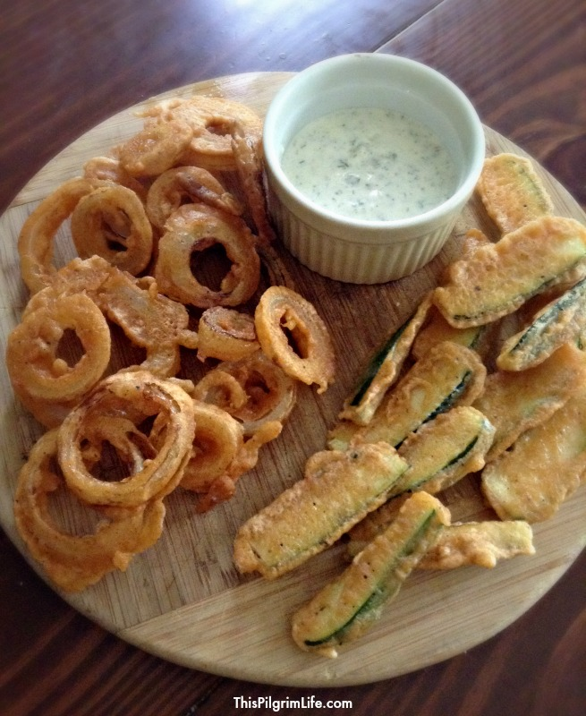 Fried foods are an indulgence we enjoy occasionally. Make them at home to have a better tasting, healthy(er) indulgence! Serve up quick fried vegetables with homemade ranch for a seriously delicious appetizer or side dish!