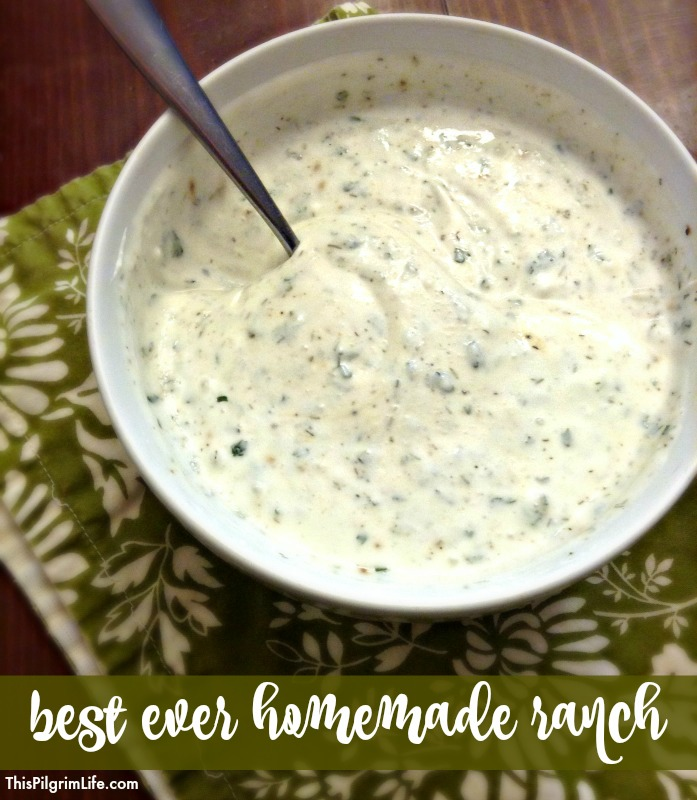 BEST EVER homemade ranch dressing and dip! So easy to make with kitchen staples!