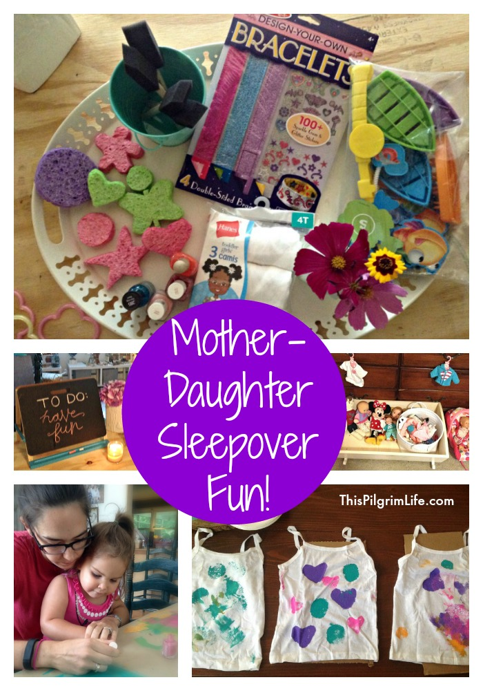 A mother-daughter sleepover is SO MUCH FUN! Keep things simple with easy crafts, fun activities, and plenty of free play!