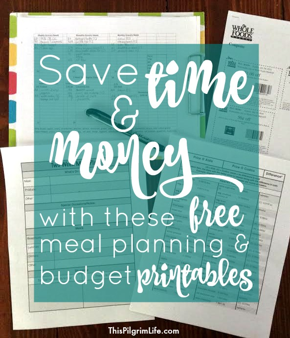 Check out these free printables to help you meal plan, shop, and stick to your grocery budget!
