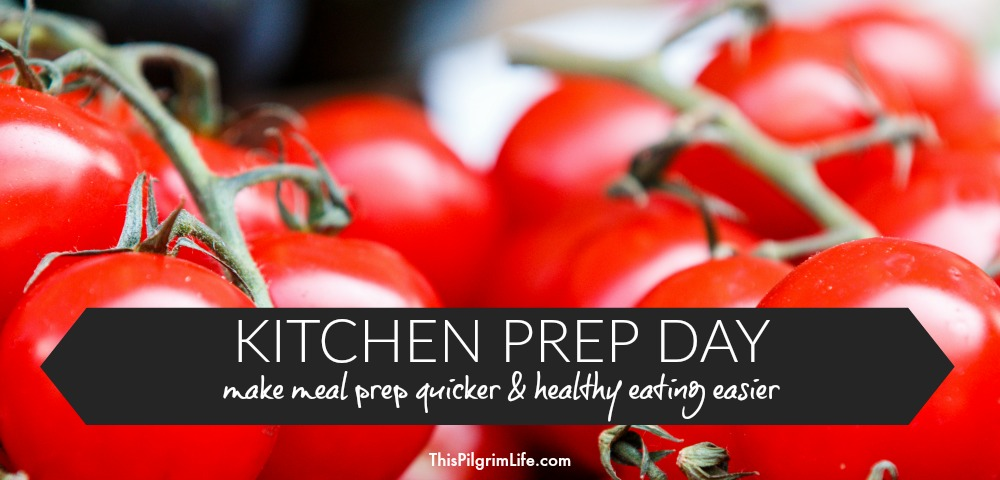 A prep day in the kitchen can save you a lot of time making meals, and can help make healthy eating much easier! While you're at it, make a batch of delicious freezer burritos!