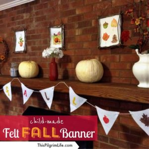 Child-made fall felt banner