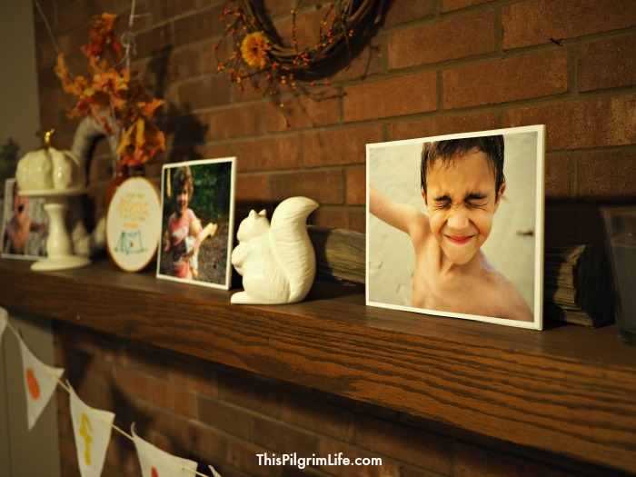 Try this simple method to display pictures on tabletops, mantles, or even on your wall for very little money and even less effort!