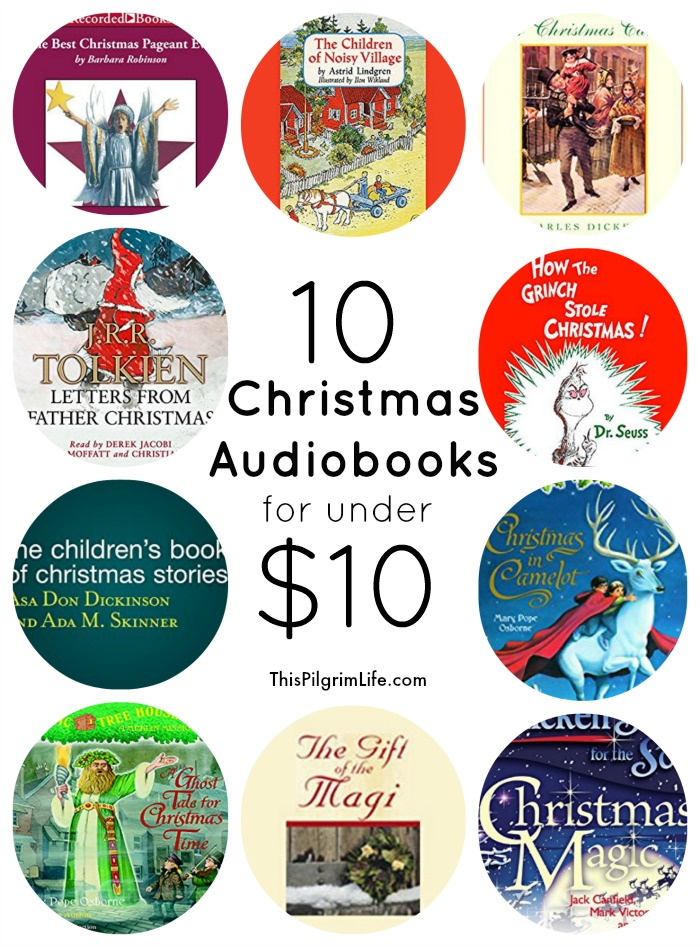 Enjoy more Christmas stories this season by listening to audiobooks! Here are ten wonderful audiobooks for under $10!