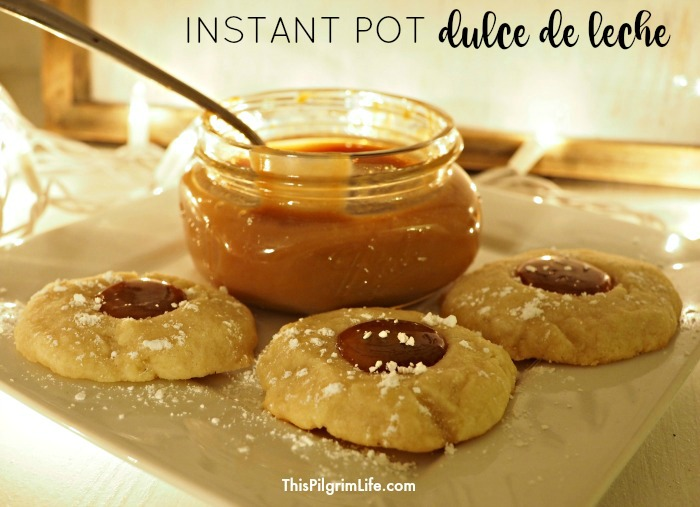 How to make amazing, homemade dulce de leche in your Instant Pot from two basic ingredients (you can skip the canned milk!).