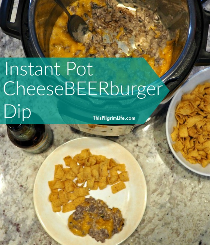 A rich and filling meaty dip cooked under pressure in beer and topped with sharp cheddar cheese.