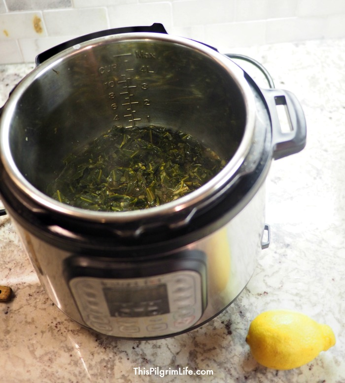 Collard greens in the Instant Pot!