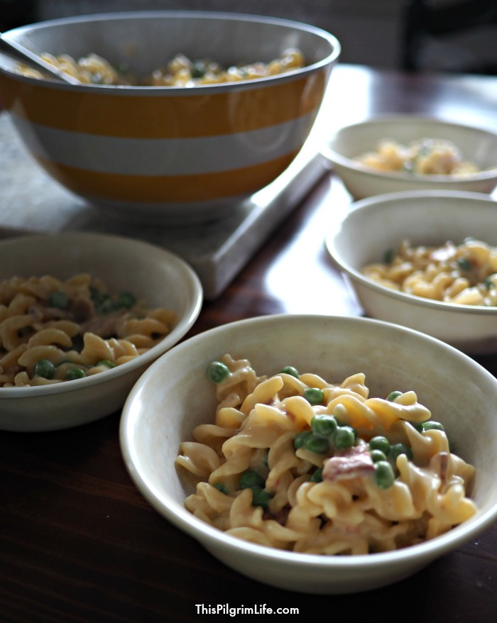 This mac'n'cheese is rich and creamy, and so simple to make in the Instant Pot! It is sure to become a family favorite!