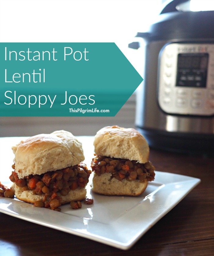 Instant Pot lentil sloppy joes-- A classic sandwich with a healthy twist. Keep the sweet barbecue flavor and serve up a healthy, budget-friendly alternative to other heavy appetizers.