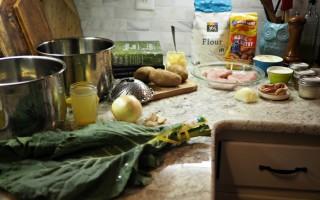 Pan Fried Pork Chops & Gravy with Collard Greens