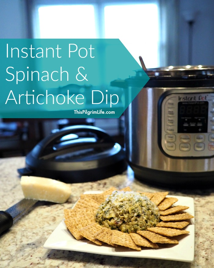 Instant Pot spinach and artichoke dip. (Check out this list of Instant Pot appetizers-- real food ingredients, quick and easy to make, and sure to please the guests at your next party! )