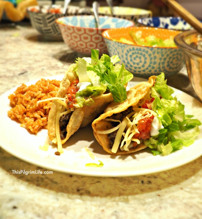 Frying taco shells at home is easy and home-fried taco shells are so good, you'll never go back to taco shells out of a box! Making a batch of Spanish-style rice to go with your tacos is simple and delicious too!