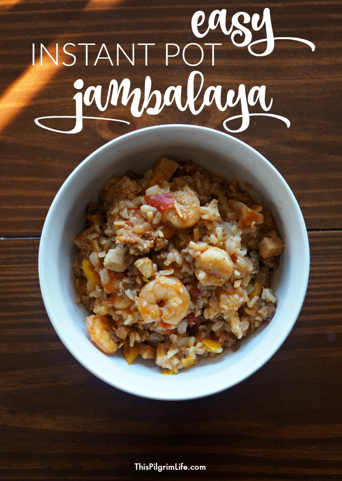 Easy Instant Pot Jambalaya