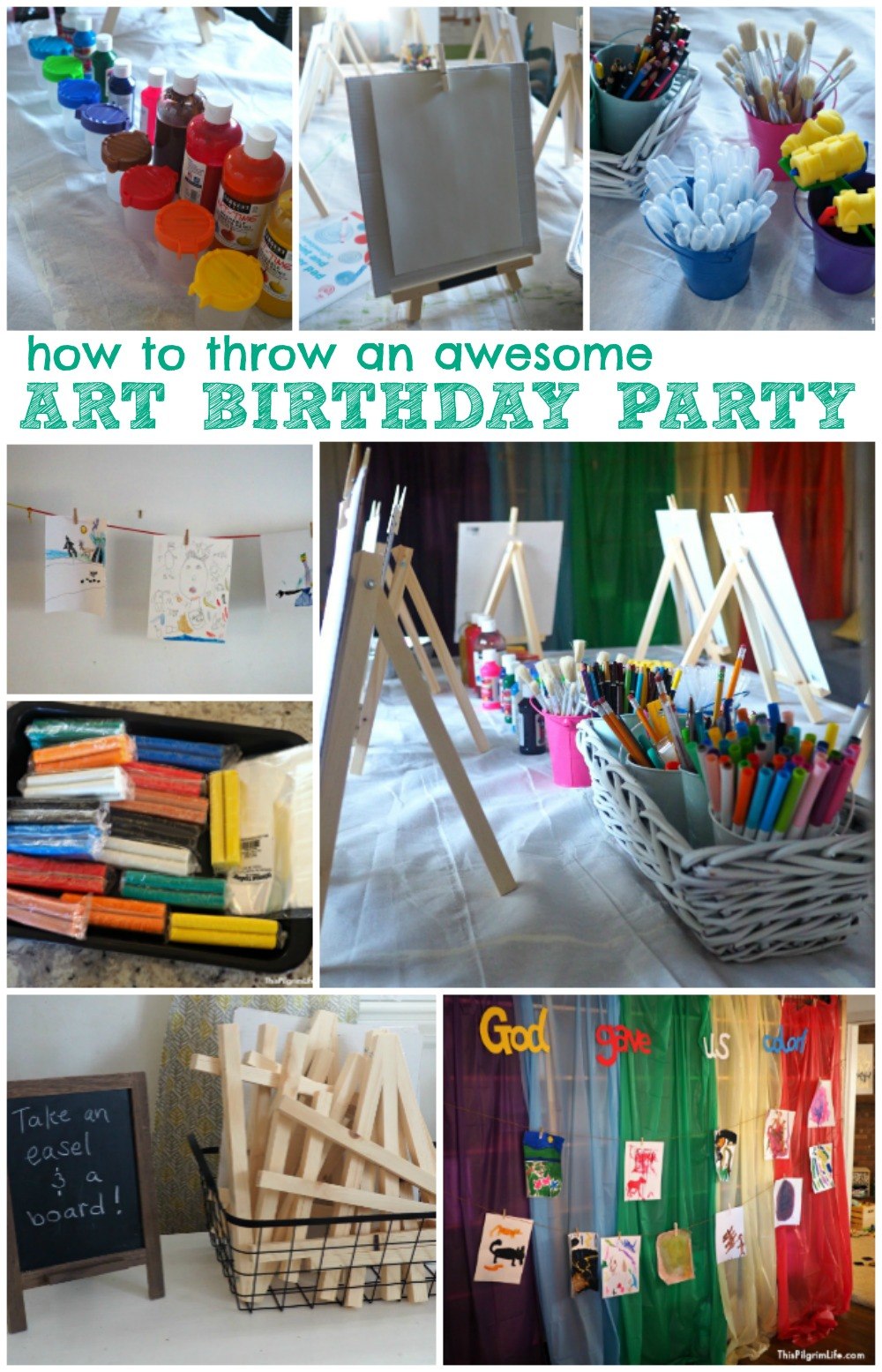 How to Throw An Awesome Art Birthday Party