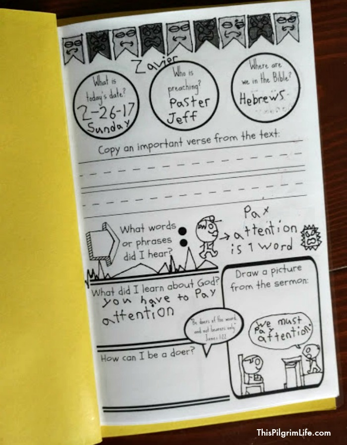 Free Printable Church Book for Kids