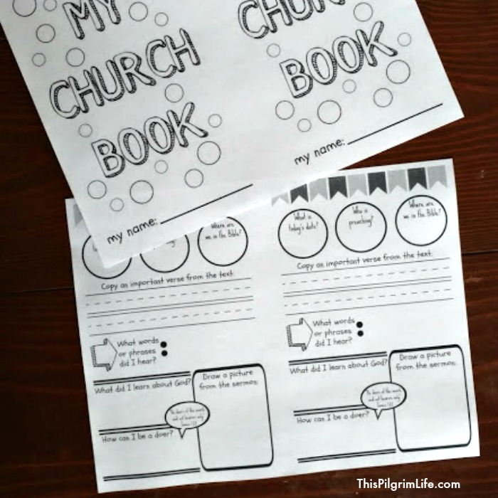 Help your kids learn to pay attention and get more out of the sermon in church with this free church book for kids!