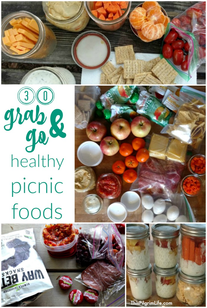 Pack a quick and easy picnic with these healthy grab-and-go picnic foods! Spend less time in the kitchen and more time enjoying the outdoors!
