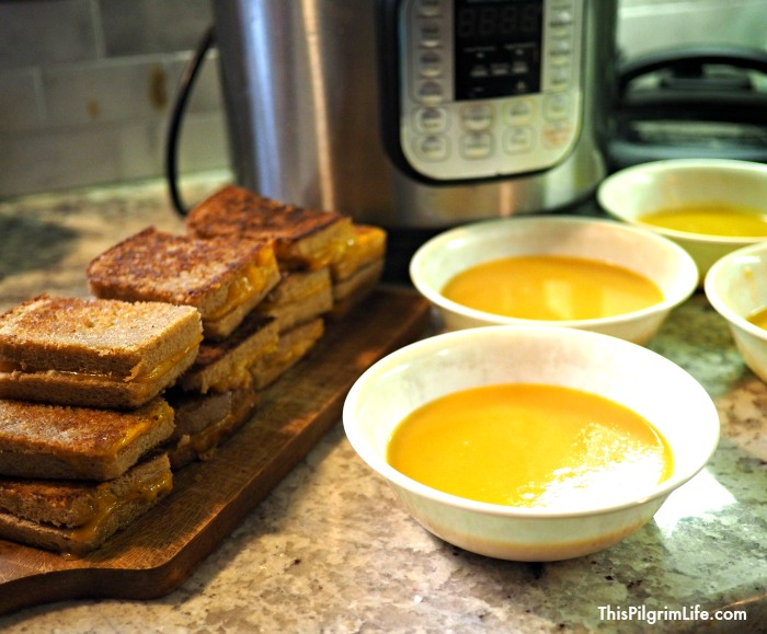 This quick and easy recipe for Instant Pot butternut squash apple soup is sure to become a family favorite. It's healthy, frugal, and so delicious!