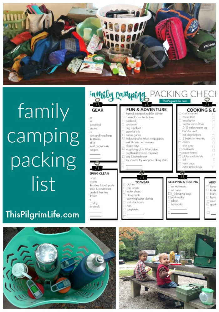 Planning a camping trip with your family and wondering what to pack??? Check out this family camping packing list for everything you will need for a great trip!