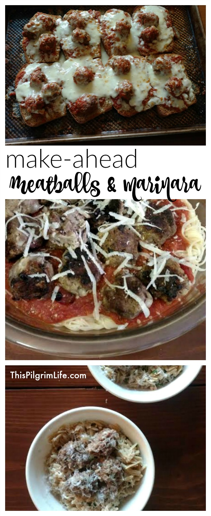 Homemade meatballs and marinara sauce is a lot more manageable when you make them in large batches and freeze for later! Check out these easy recipes for AMAZING make-ahead meatballs and marinara sauce, as well as ideas for how to enjoy them!