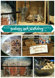 How to throw an awesome geology rock birthday party for kids!