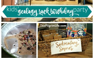Kids' Geology Rock Birthday Party