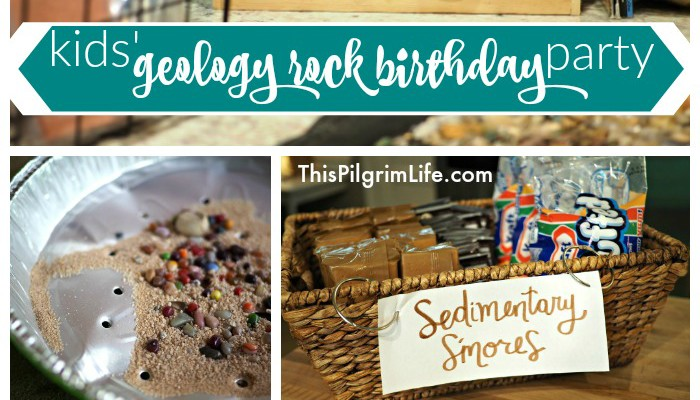 Kids' Geology Rock Birthday Party