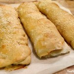 Fold up some Italian meat and cheese in a simple pizza dough and you have an amazing meal of homemade stromboli! Just don't forget the marinara sauce for dipping!