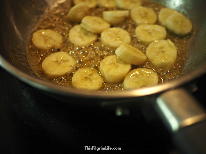 Enjoy this classic dessert without the processed sugar or the fuss of bothering with a flame! This maple-sweetened faux bananas foster is incredibly quick and easy to make!