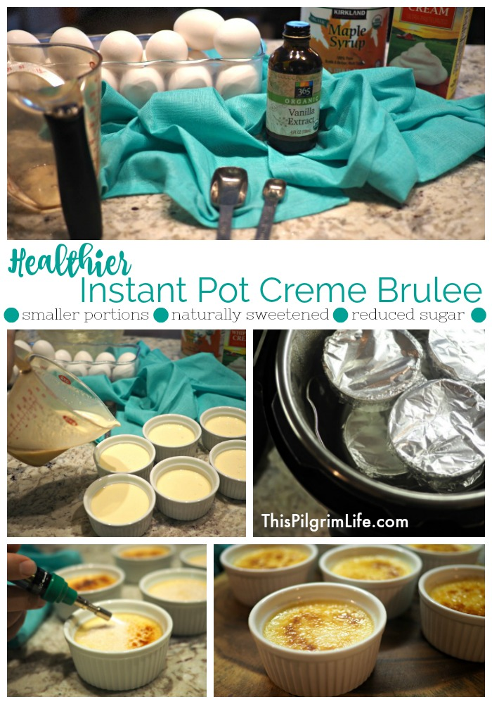 This Instant Pot crème brûlée is AMAZING! You can't even tell that it is naturally sweetened and has a reduced sugar content!