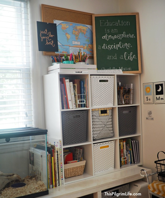 It S Possible To Create An Organized Homeschool E In A Common Room Without Looking Like