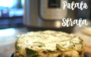 Instant Pot Pesto Potato Strata