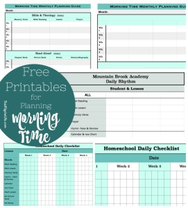 Planning time for truth, goodness, and beauty in your homeschool day is easier with these free Morning Time printables!