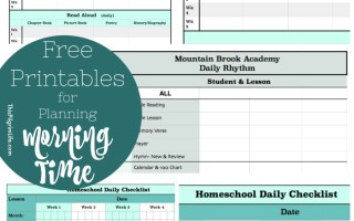 Free Printables for Planning Morning Time