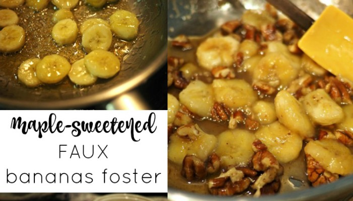 Maple-Sweetened Faux Bananas Foster