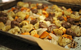 Sheet Pan Roasted Sausage & Root Vegetables