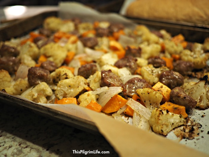Sheet Pan Roasted Sausage & Root Vegetables
