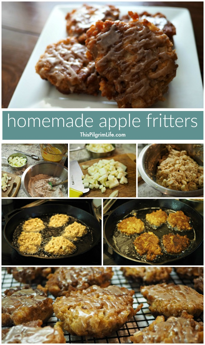 Delicious homemade apple fritters, slightly healthified, and ready in thirty minutes!