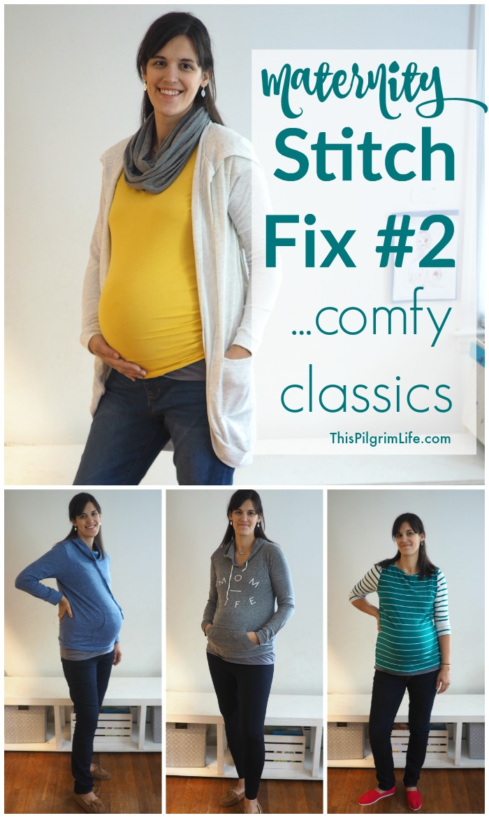 I received my second maternity Stitch Fix this weekend, and it's full of comfortable classics! See what they sent!